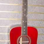 Custom Made Hand Crafted Acoustic Guitar With Cherry Red Finish JPGuitars.com