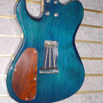 Custom Made Hand Crafted Electric Acoustic Guitar Blue Flame Maple Back JPGuitars.com