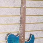 Custom Made Hand Crafted Electric Acoustic Guitar Blue Flame Maple Front JPGuitars.com
