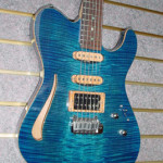 Custom Made Hand Crafted Electric Acoustic Guitar Blue Flame Maple JPGuitars.com