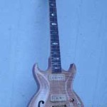 Custom Made Hand Crafted Electric Guitar HML Howard Leese Modle With Natural Finish Front 2 JPGuitars.com