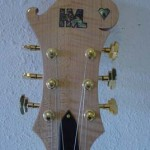 Custom Made Hand Crafted Electric Guitar HML Howard Leese Modle With Natural Finish Headstock JPGuitars.com