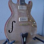 Custom Made Hand Crafted Electric With F-Hole And Quilted Maple Top Side View JPGuitars