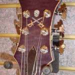 Custom Made Hand Crafted Guitar Headstock Pearl Inlay Purple HML Howard Leese JPGuitars.c om