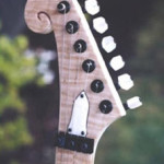 Custom Made Hand Crafted Hand Carved Electric Guitar With Scroll Work Headstock JPGuitars.com