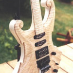Custom Made Hand Crafted Hand Carved Electric Guitar With Scroll Work JPGuitars.com