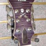 JP Guitars Custom Guitar Pearl Inlays Abalone Inlays Wood Inlays HML Howard Leese Model Purple Scull&Swords Pearl Inlay