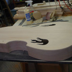 JP Guitars Acoustic Bass Flame Sound Holes Waiting To Be Finished