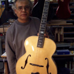 JP Guitars Finished Archtop Top Acoustic Guitar With F-Holes And Inner Bracing Assembled jpguitars.com