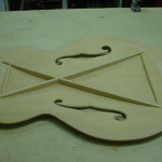 JP Guitars Unfinished Archtop Top Acoustic Guitar With F-Holes And Inner Bracing Side jpguitars.com